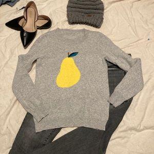 J. Crew wool crew neck pear sweater 🍐💕